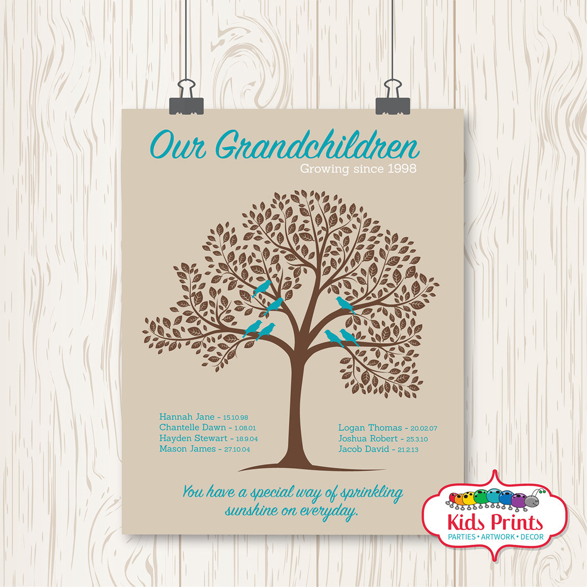 Family Tree Print - Personalised