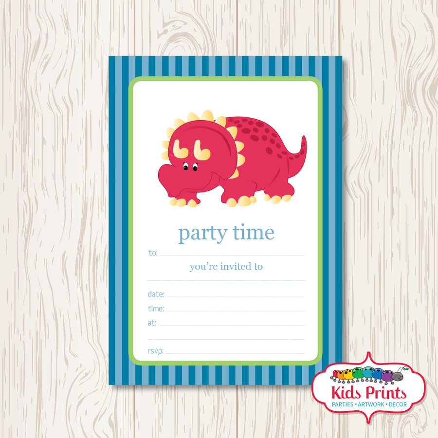 Dinosaur Printable Birthday Invitation