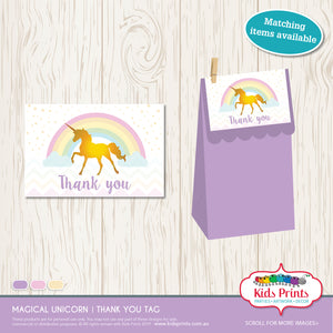 Magical Unicorn Theme - Printable Party Stationery