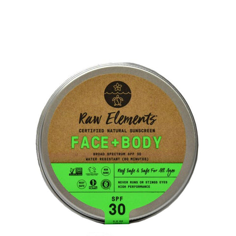 Raw Elements Face and Body 30 Plus Tin