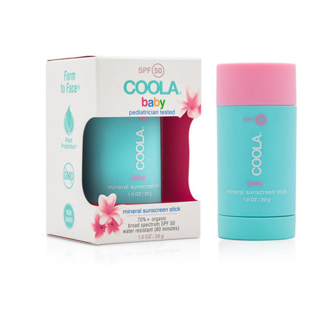 COOLA Mineral Baby SPF 50 Unscented Sunscreen Stick 1 oz