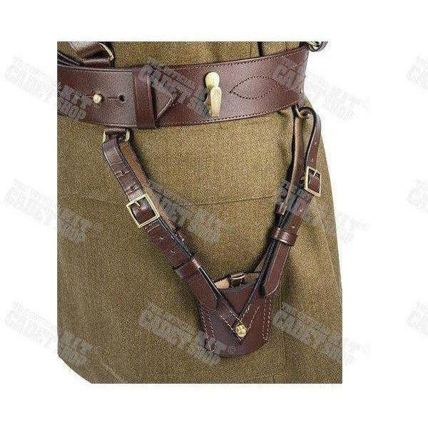 Sword Frog Brown Leather for Sam Browne-Uniform Clothing & Accessories-Ammo & Company-Cadet Kit Shop