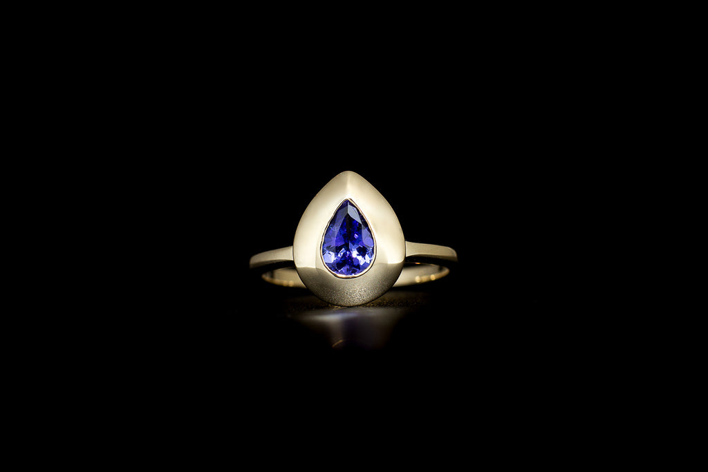 """Neo-Geo"" Tanzanite Yellow Gold Ring"