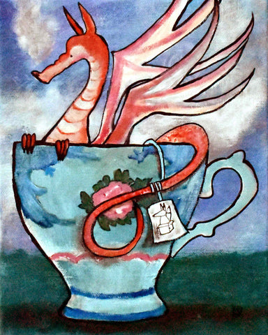 Dragon Teacup Original Painting