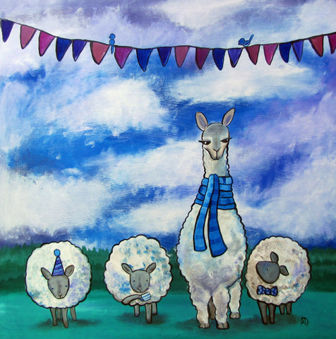 Llama Sheep Art Print - andralynn-creative-designs