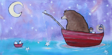 Star Lake Original Painting - andralynn-creative-designs