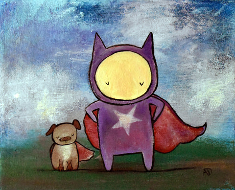 Superhero Original Painting