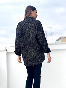 Mrs. French Vintage Printed Shirt for Women Back