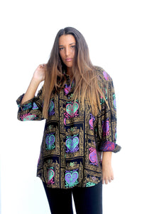 Mrs. Goldschool Vintage Printed Shirt for Women Front