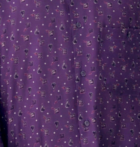 Mr. Purp Vintage Printed Shirt for Men Print Details
