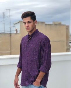 Mr. Purp Vintage Printed Shirt for Men Front