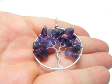 Load image into Gallery viewer, Amethyst tree of life pendant