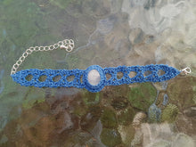 Load image into Gallery viewer, Crochet bracelet with moonstone cabochon