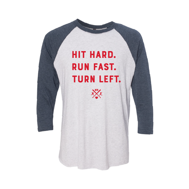 Hit Hard - Raglan - TheSotaShop