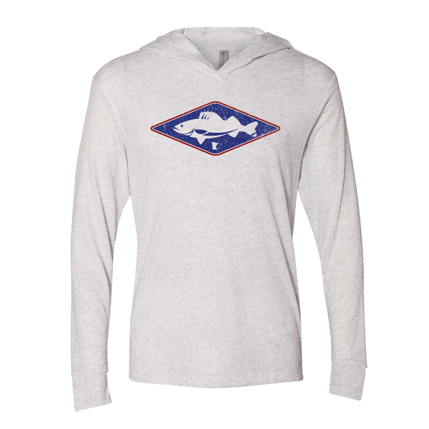 Walleye MN - Long Sleeve Hooded Tee - TheSotaShop
