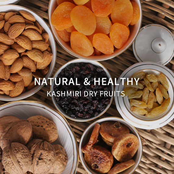 Natural and healthy Kashmiri dry fruits of all kinds