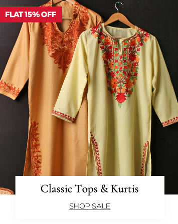 Classic tops and kurtis at flat 15% off.
