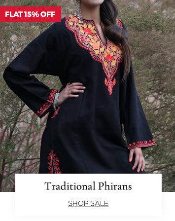 Traditional Kashmiri Phirans at flat 15% off.