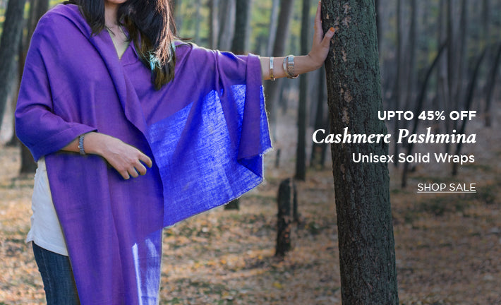 The luxury cashmere pashmina at upto 45% off