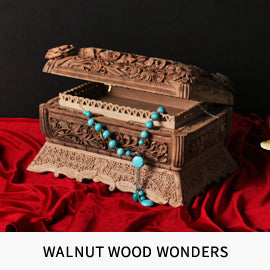 Handmade and handcrafted walnut wood wonders.