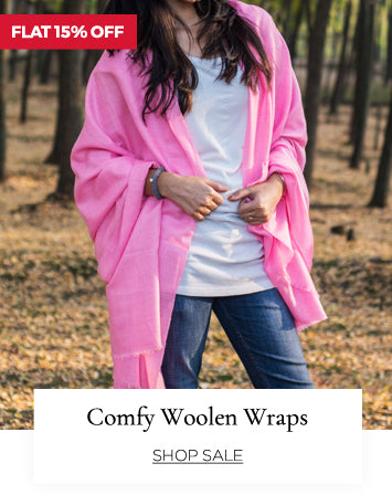warm woolen wraps for chilly evenings