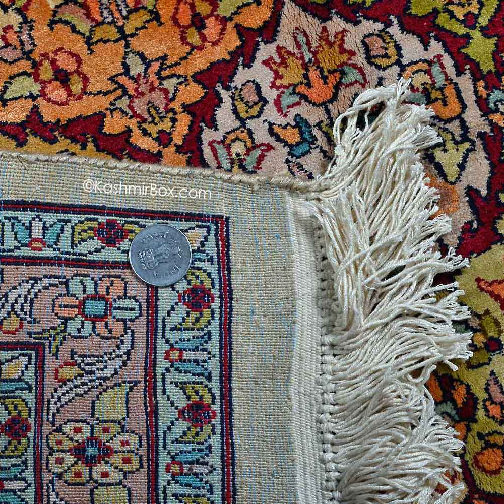 White Abassi Silk Carpet