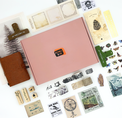 Vintage Bundle + Leather Notebook