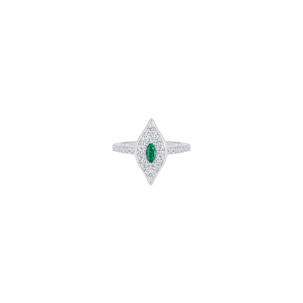 Donna Emerald Petite Marquis Ring - Sara Weinstock Fine Jewelry