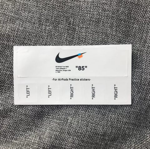Off-White AirPods Sticker Set - AZOODEAL