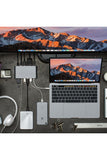 HyperDrive Ultimate 11-in-1 USB-C Hub for Mac, PC, Android, USB-C Devices - Silver (GN30)