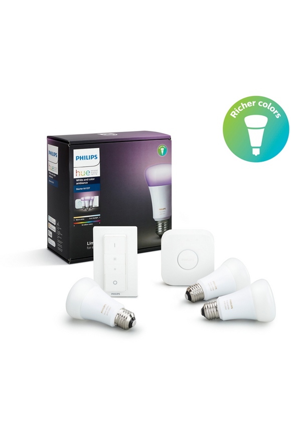 Philips Hue Starter kit E27 White and Color Ambiance (8718696728796)