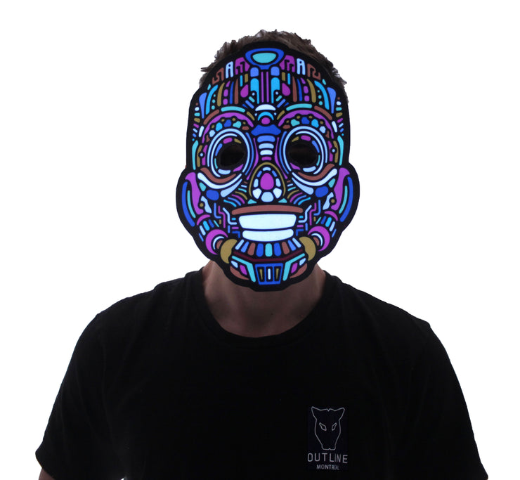 The official Y, Robot Sound Reactive LED Outline Montréal Mask - Second Picture