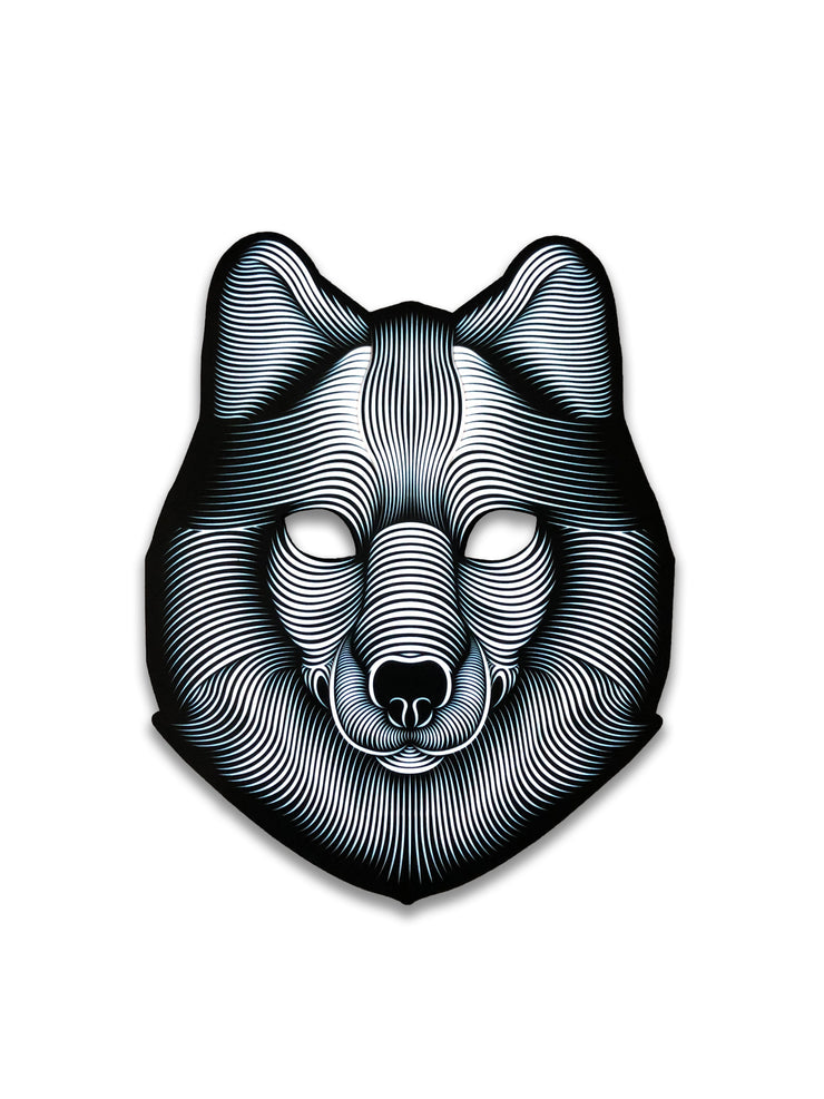 The official Wolf Sound Reactive LED Outline Montréal Mask - Principal Picture