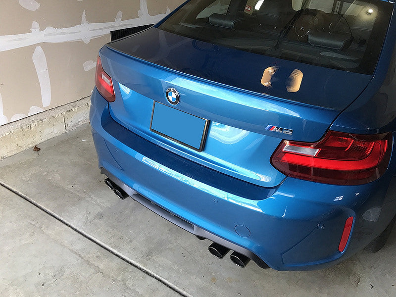 BMW F87 M2 Black Chrome Exhaust Tips 3