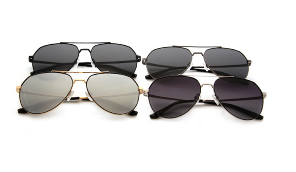 "Tiara-""Mirror Mirror!"" Black Frame Aviator lenses Sunglasses. - TiaraBleu"