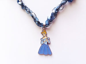 Cinderella Necklace with Crocheted Yarn Chain