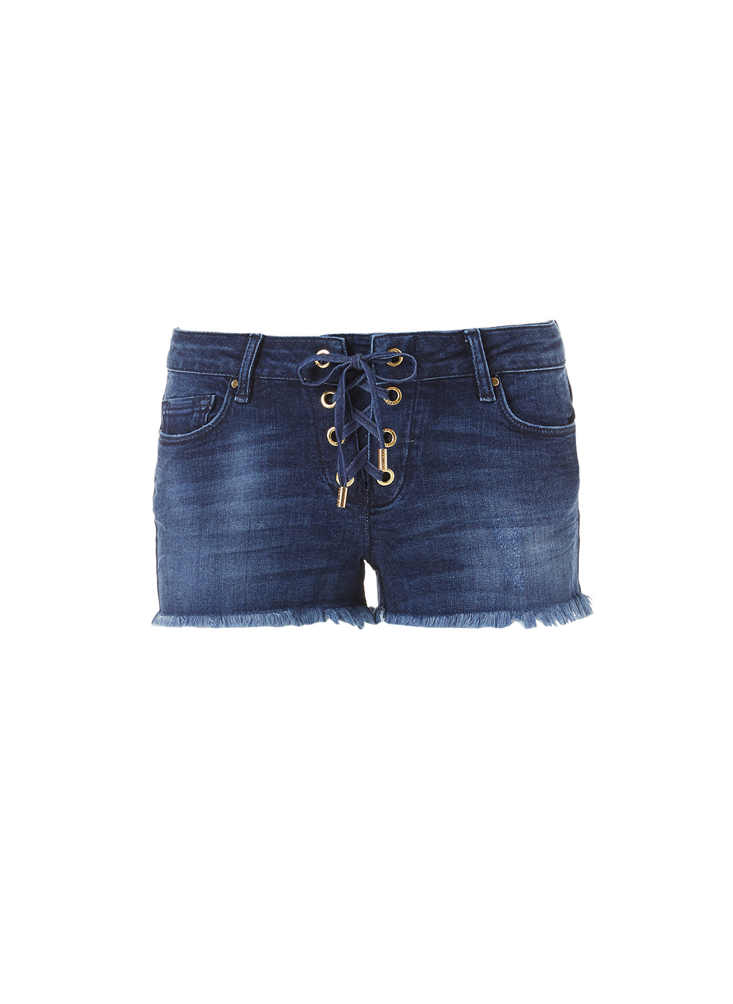 Alexi Denim Lace Up Shorts