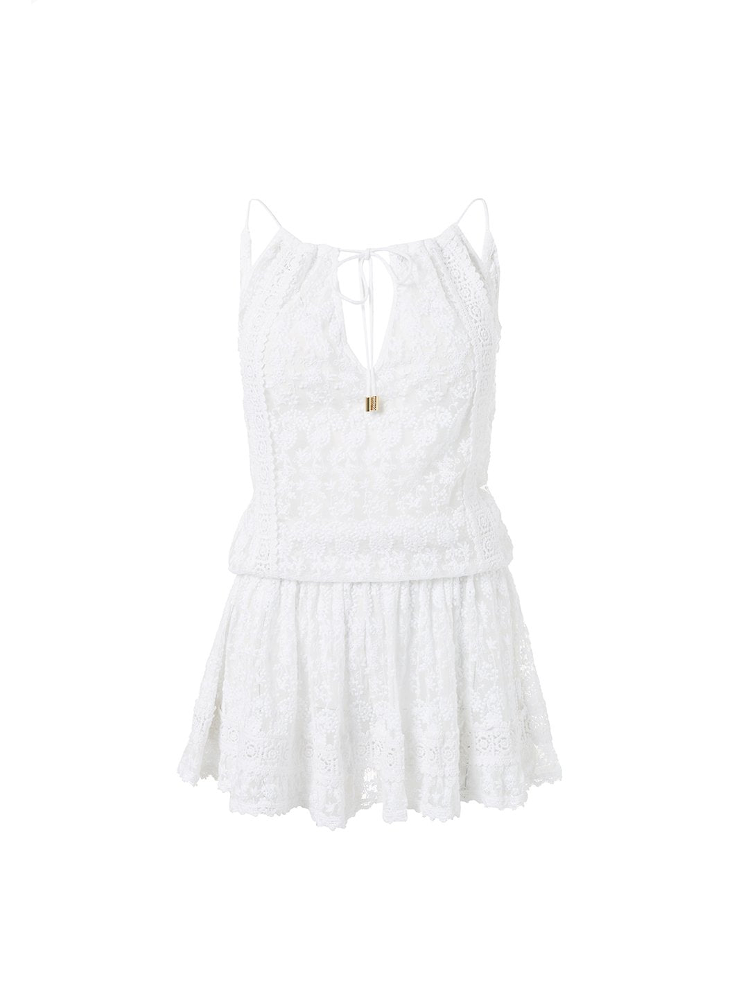zoe white embroidered openback short beach dress 2019