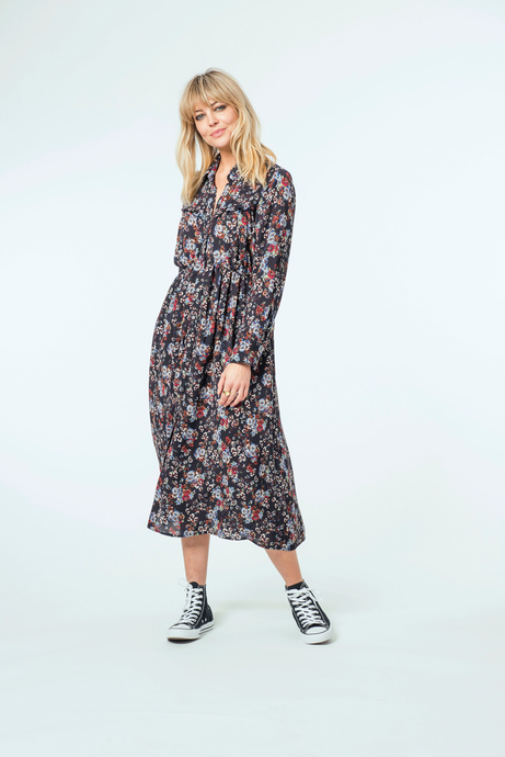 Molly Midi Dress | Night Floral