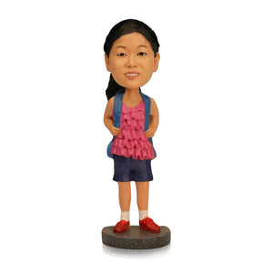 Go to School Girl Personalized Custom Bobbleheads