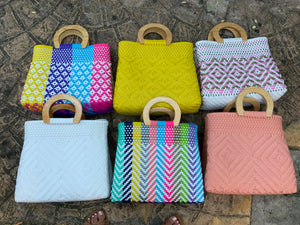 Handmade Recycled Plastic Purses Totes Beach Bags