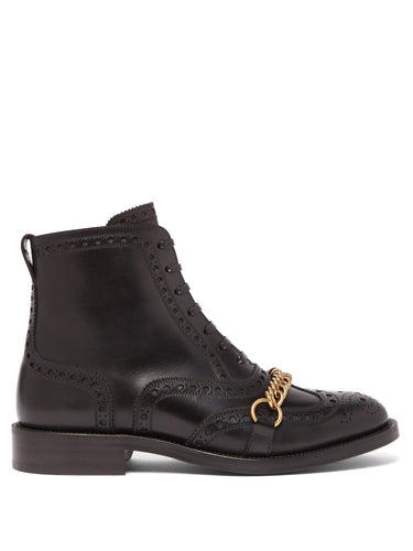 Barksby brogue leather ankle boots