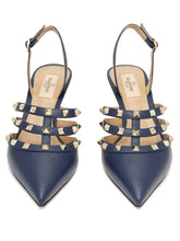 Load image into Gallery viewer, Rockstud slingback leather pumps