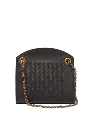 Intrecciato leather cross-body bag