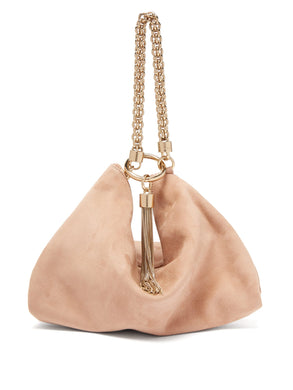 Callie suede clutch bag