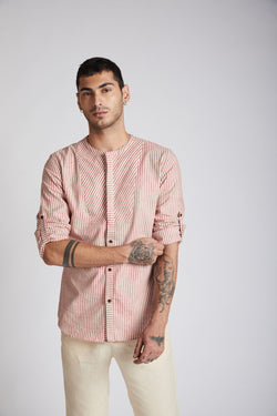 Kaleidoscope Round Neck Shirt - Broad Stripes
