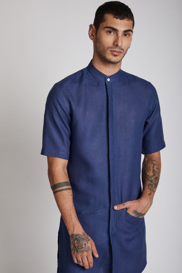 Metamorphosis Kurta - Navy