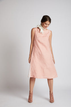 Pinwheel Sleeveless Dress - Peach
