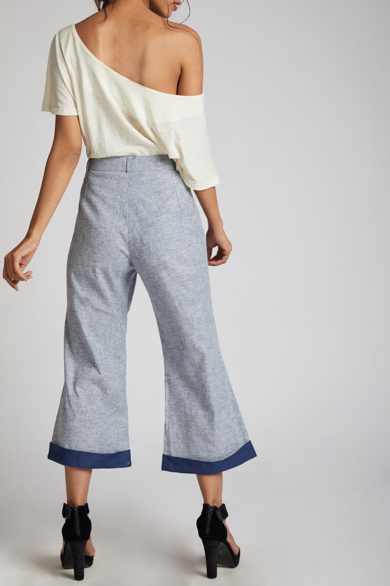 Rapture Calf Length Pants - Blue Melange