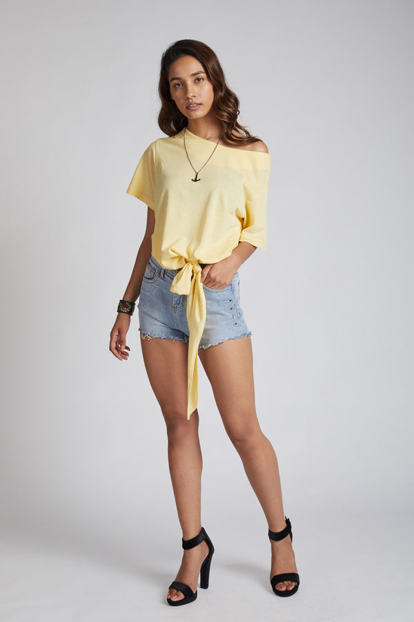 Reef Tie Up T-Shirt - Yellow